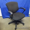 Black Mid-Back Office Task Chair w/ Fixed Arms