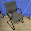 Steelcase Black Protege Guest Side Chair with Arms