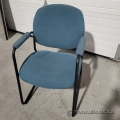 Teal-Green Side Reception Guest Chairs with Padded Arms