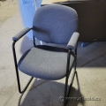 Blue Side Reception Guest Chairs with Padded Arms