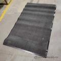 Commercial Indoor Rubber Coated Grey Entrance Floor Mat 72x37