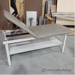 Grey Treatment Table w/ Bottom Shelf