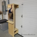 Wall Mounted Wardrobe w/ Shoe Cubby and Mirror
