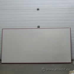 96 x 48 Magnetic Wall Sized Whiteboard with Attached Tray, Blems