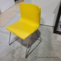 Ikea Bernhard Yellow Stacking Leather Guest Chair
