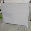"Grey Metal Cloth Partition Divider Wall Panel 60"" x 50"""