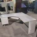 Grey L-Suite Desk w/ Pedestal 65x65