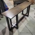65in Dark Wood Hallway Sofa Table