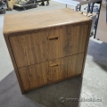Oak 30in 2 Drawer Lateral File Cabinet