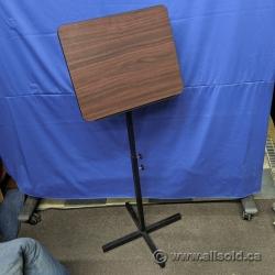 Mahogany Nesting Height Adjustable Sheet Music Stand Podium