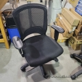 Black Mesh Back Office Task Chair w/ Adjustable Arms