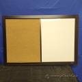 Quartet Espresso Combination Magnetic Whiteboard/Cork Board