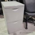 Grey 2 Drawer Vertical File Cabinet - Letter