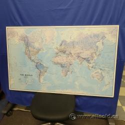 Large World Map on Foamboard