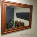 Large Wood Framed Mirror - 51x41