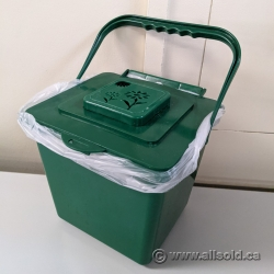 Small Green Compost Bin w/ Carrying Handle