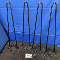 """Set of 4 Hairpin Metal Furniture Legs, 18"""" Height"""
