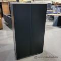Black 2 Door Wood Storage Wardrobe Cabinet