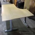 IKEA Galant Blonde Modular Open Style Corner Desk w Grey Legs
