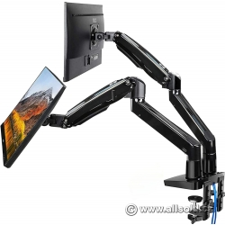 "Full Motion Dual Monitor Arm Desk Mount, 22-35"" Screens"