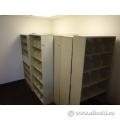Beige Tab Metal Shelving Shelf 6-Shelves