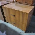 Walnut 2 Drawer Lateral File Cabinet, Locking