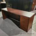 Mahogany Single Pedestal Straight Desk