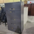 Grey Global 5 Drawer Lateral File Cabinet
