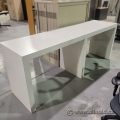 """95"""" White Bistro Bar Counter Height Table"""