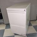 Haworth Beige 2 Drawer Box Box Pedestal File Storage Cabinet