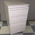 Haworth Beige 3 Drawer Rolling File Storage Pedestal Cabinet