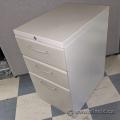 Beige 3 Drawer Under Desk Rolling File Storage Pedestal Cabinet