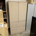 Pale Tone 2 Door, 2 Drawer File and Storage Cabinet, Locking