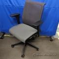 Steelcase Think Grey Mesh Back Cloth Seat Adj. Task Chair