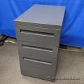 Grey Letter 3 Drawer Under Desk Pedestal File Cabinet, Locking