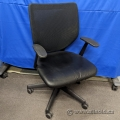 Keilhauer Simple Mesh Back Task Chair w/ Leather Seat