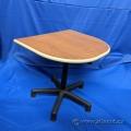 Teknion Cherry Gas Lift Adjustable Table Desk Extension