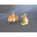 Pettycoat Lane lot of 2 Ornaments Christmas