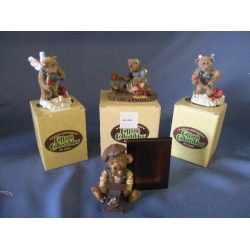 Cottage Collectables by Ganz lot of 4 bears