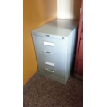 Global Grey 2 Drawer Vertical Filing Cabinet w/ Key