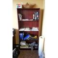 """Dark Cherry 3 Shelve Bookshelf apx 12x36x72"""""""