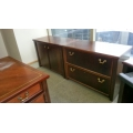 Maple 2pc Credenza, 2 Drawer lateral, 2 Door Storage
