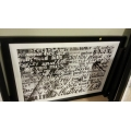 Show Home Black Acrylic Frame LA Places Print