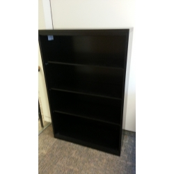 Black Metal 4 Shelf Bookcase, Fully Adjustable Shelves