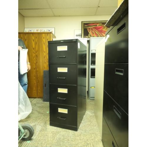 Prosource Black 4 Drawer Vertical File Cabinet