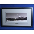 Framed Rundle Mt. Photo Print w Plaque, 29.5 x 18.5 in.