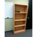 Sugar Maple 71 in. Adjustable Shelf Book Case