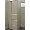 Teknion Tan Personal Storage Tower w Wardrobe, Storage, Filing