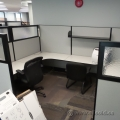 Teknion White Systems Furniture Cubicle Workstation Desk