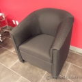 Black Patterned Tub Style Reception Chair